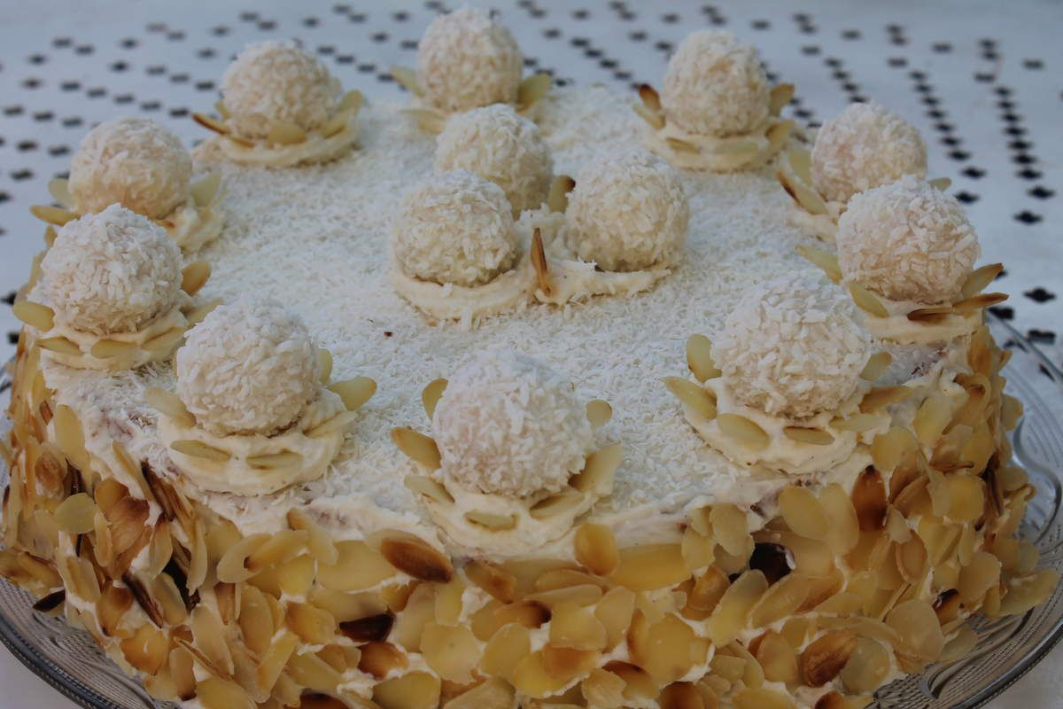 Layer cake aux raffaelo