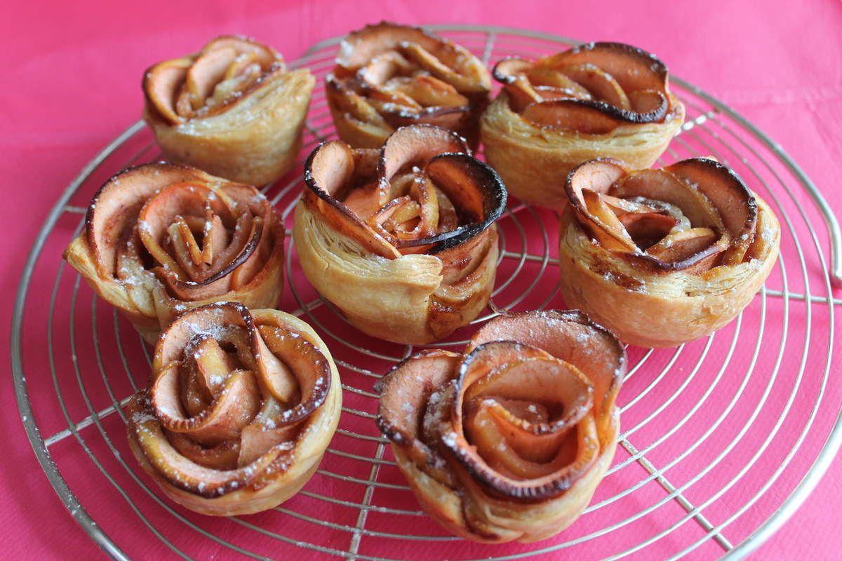 Roses en tarte aux pommes