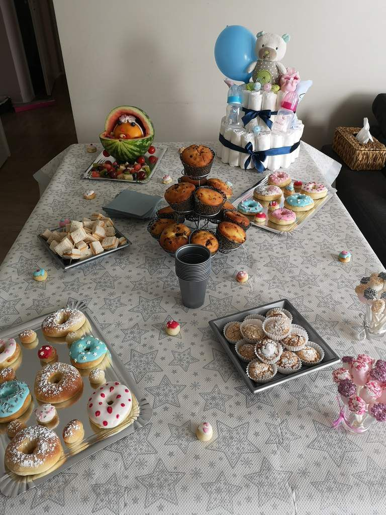 Baby shower (gâteaux, déco, animations)