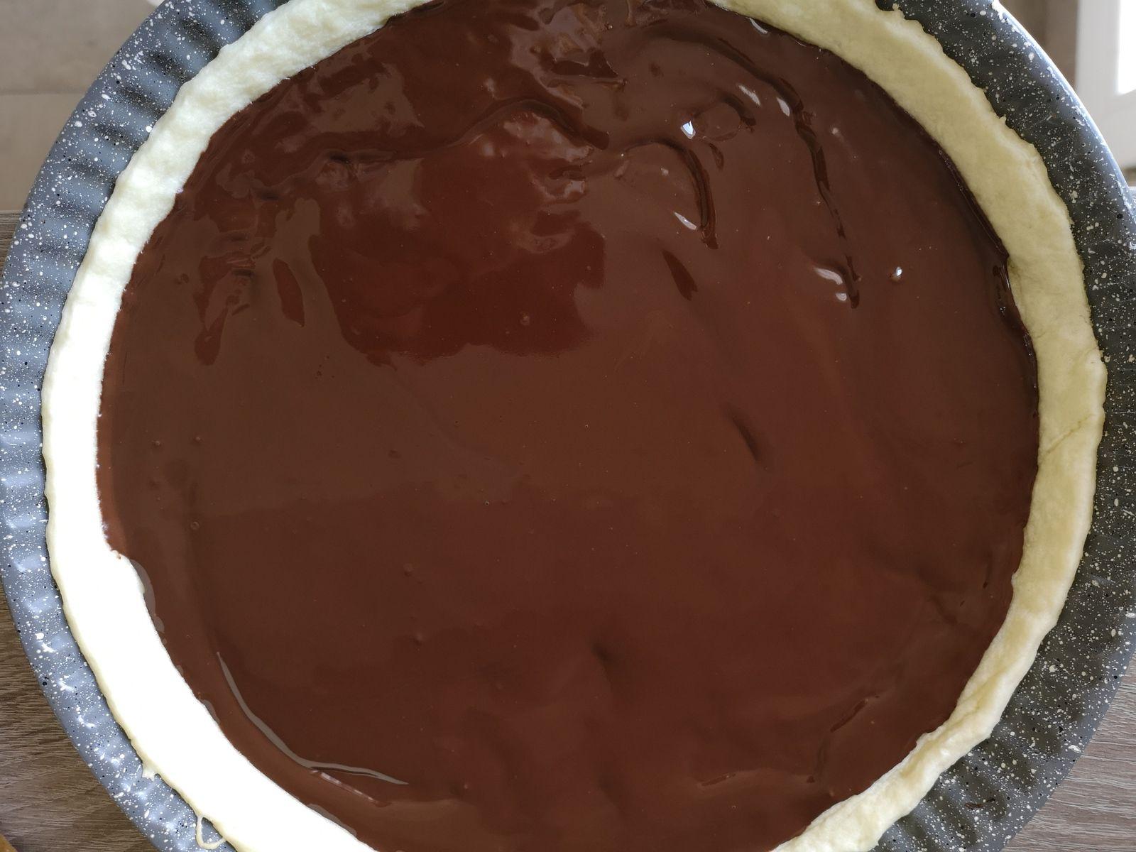 Tarte fondante chocolat bananes