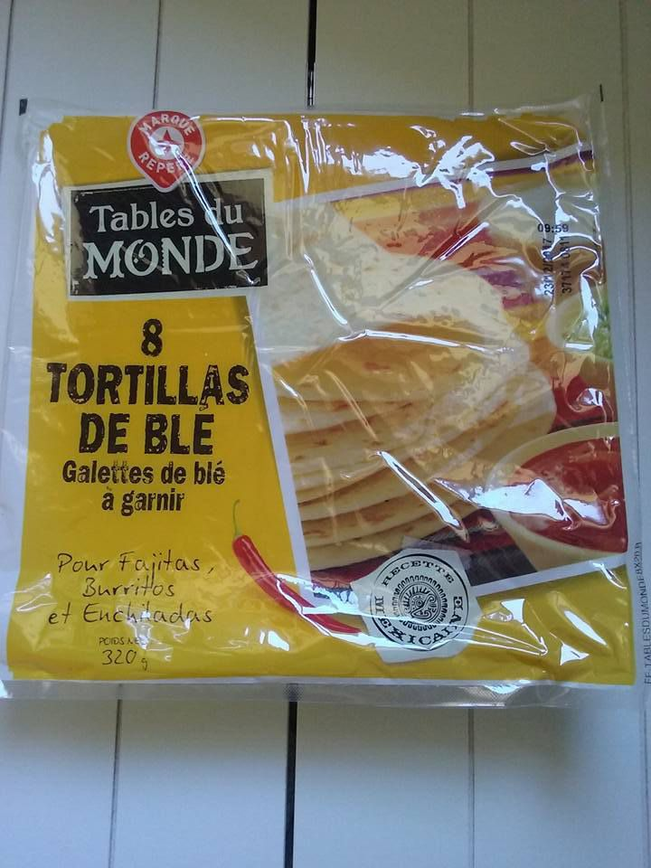 1 tortilla : 4 sp