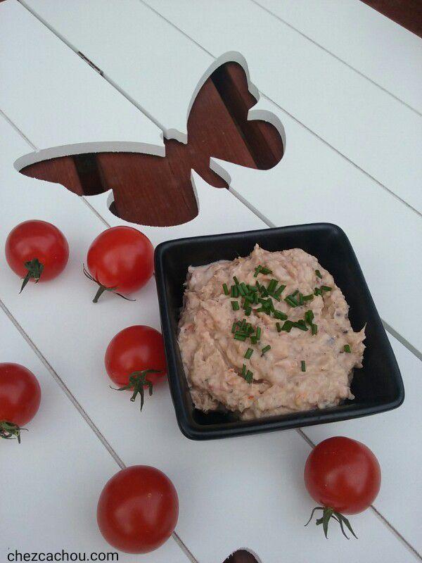 Rillettes de sardines et tomates