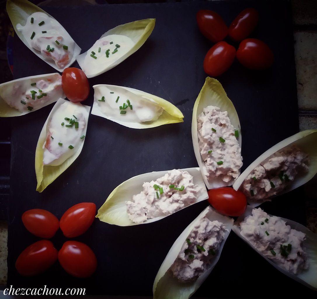 Amuse-bouche fleurs d'endives