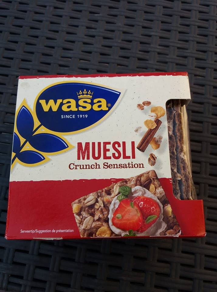1 Wasa muesli crunch sensation : 1 sp