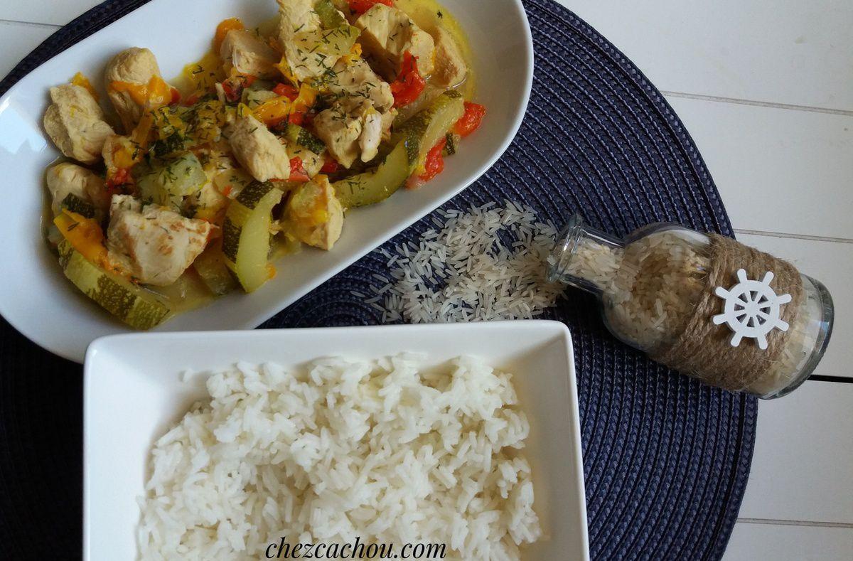 Curry de poulet aux légumes réalisé avec ou sans Cookeo recette Weight Watchers