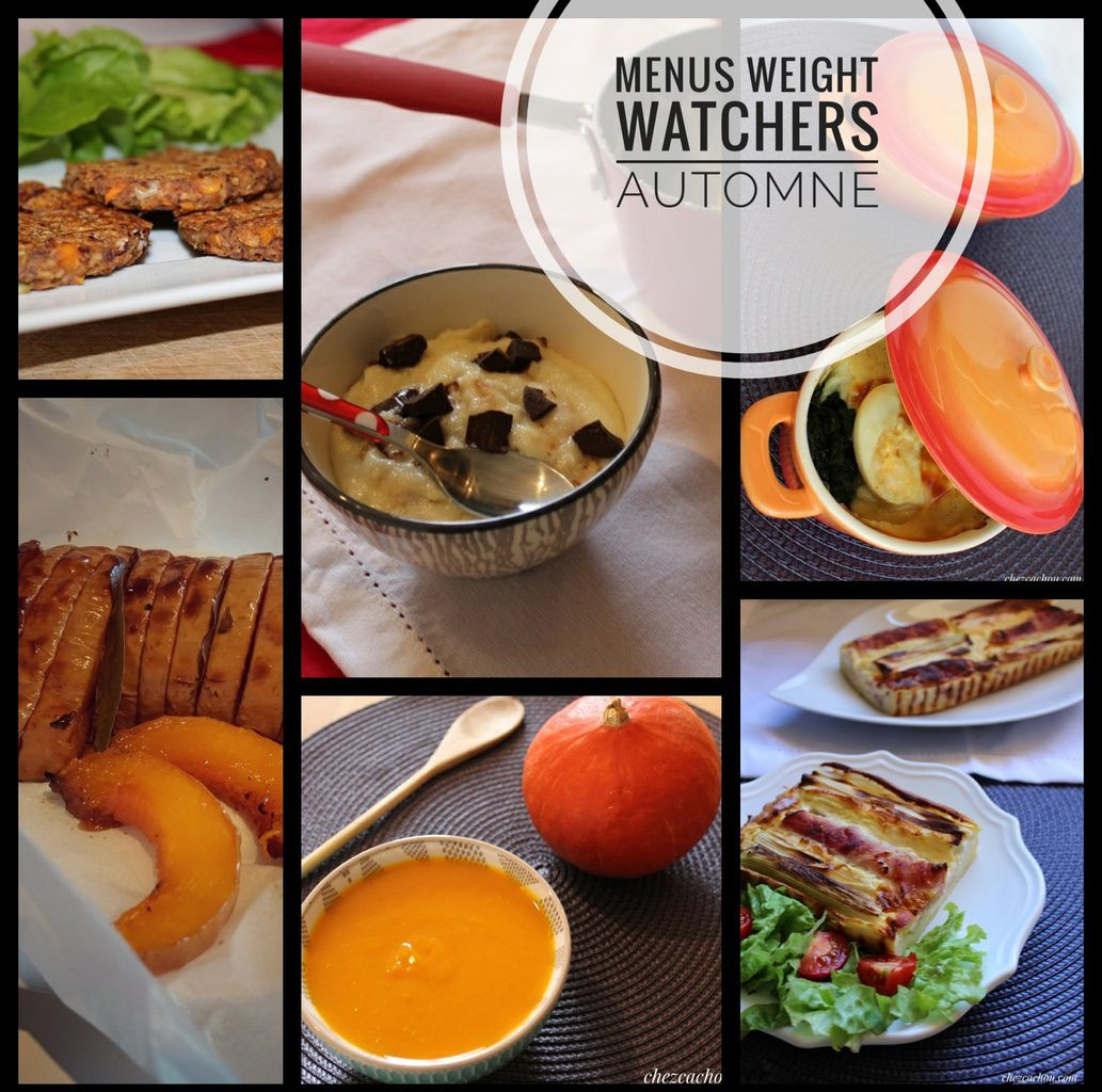 Idées menus Weight Watchers automne
