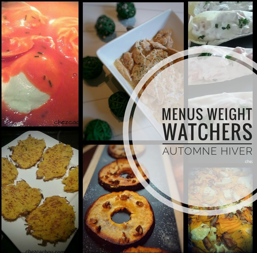 Idées menus Weight Watchers hiver