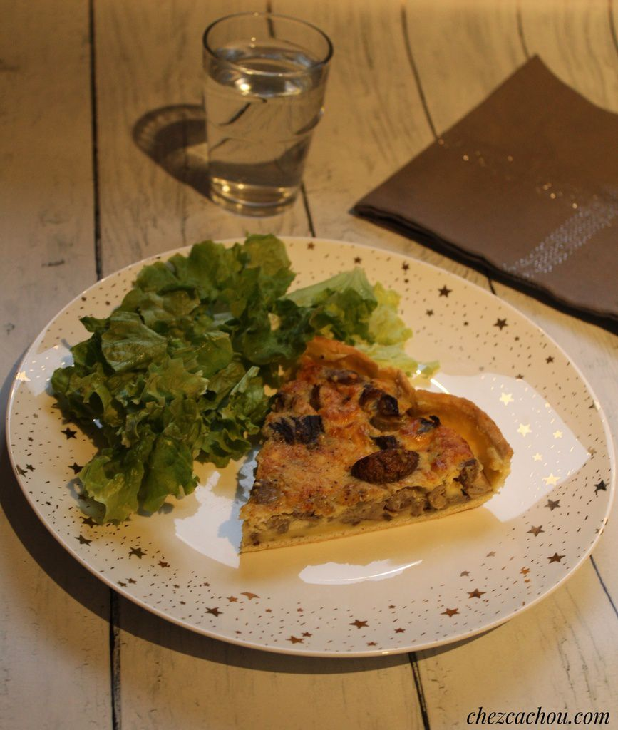 Quiche aux champignons au curry