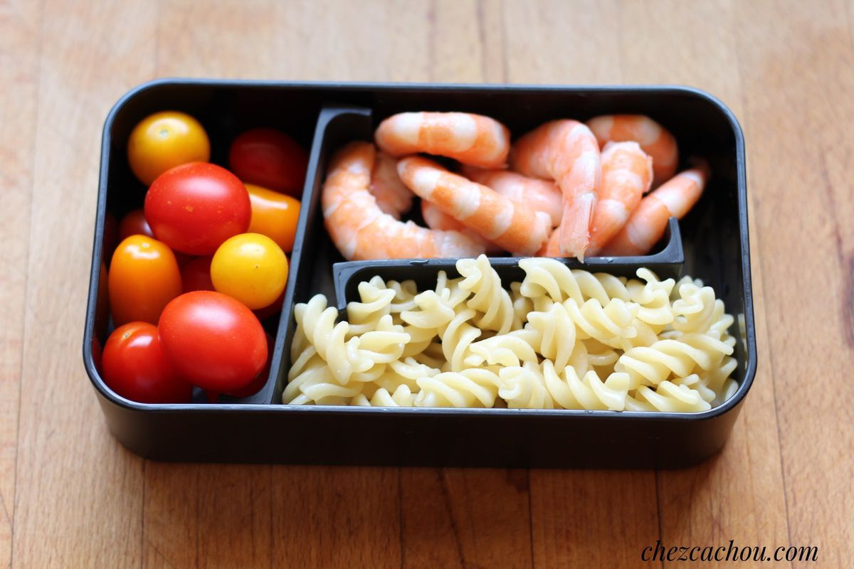 Lunch box : des idées top chrono pour des lunch boxes Weight Watchers crevettes
