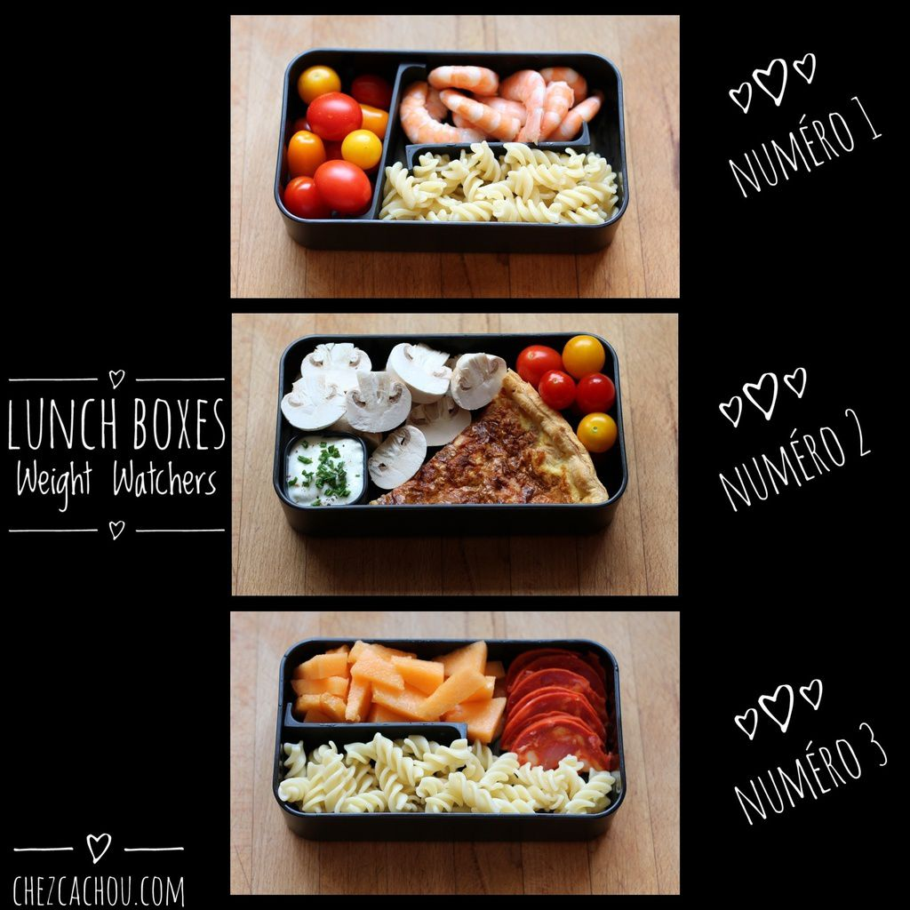 Lunch box : des idées top chrono pour des lunch boxes Weight Watchers