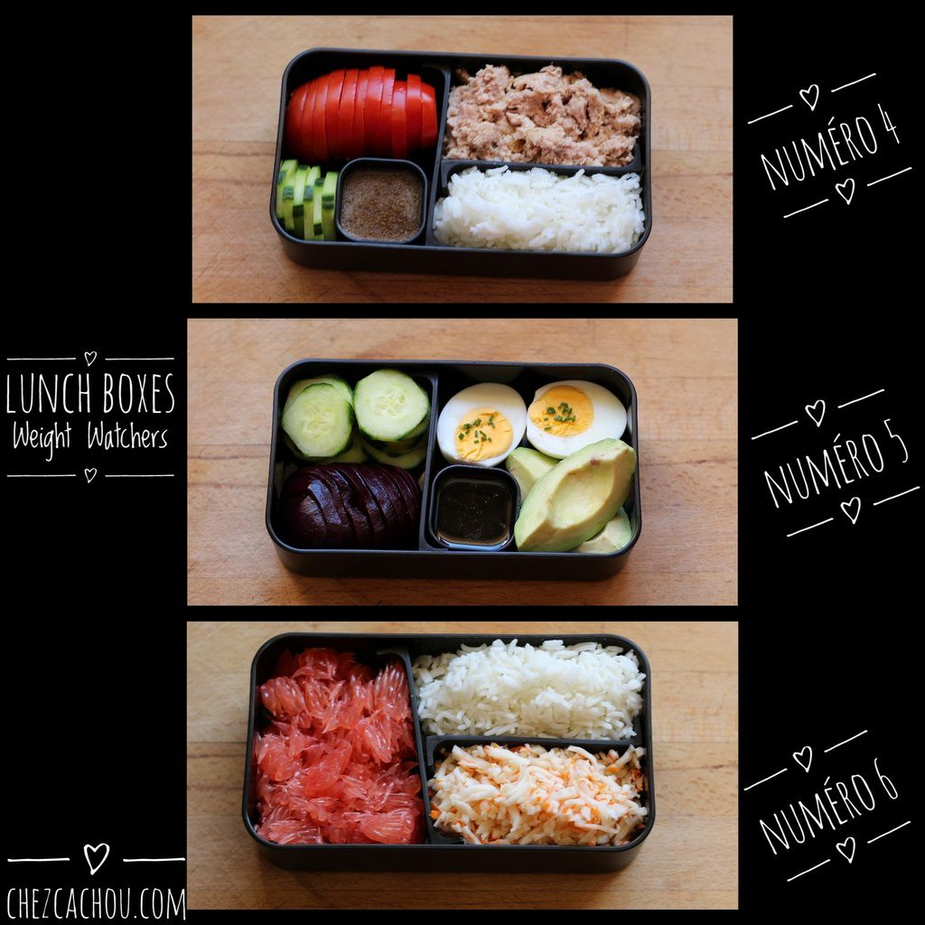 Lunch box 2 : des idées top chrono pour des lunch boxes Weight Watchers