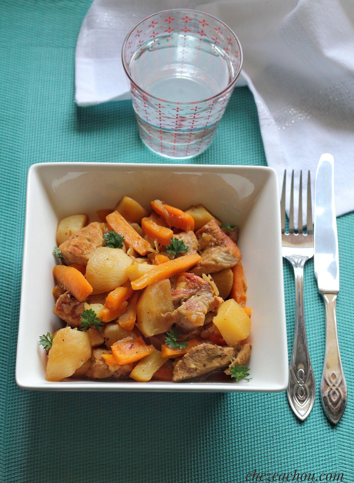Filet mignon de porc aux légumes au Cookeo