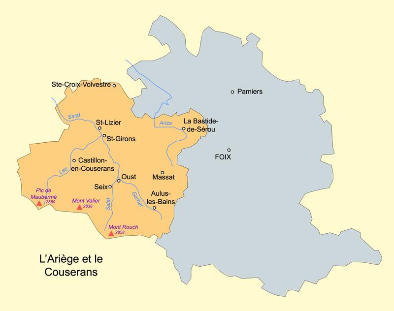 Carte du Couserans par Basilus