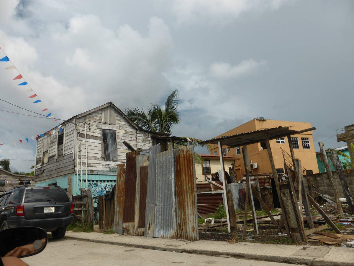 On the road to Belize city