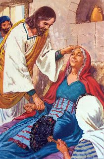 jésus guérit la mère de Pierre