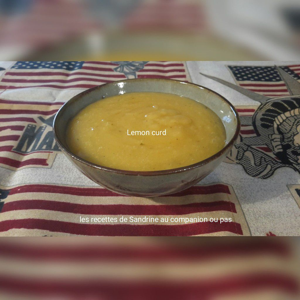Lemon curd recette facile au companion, thermomix ou i cook'in