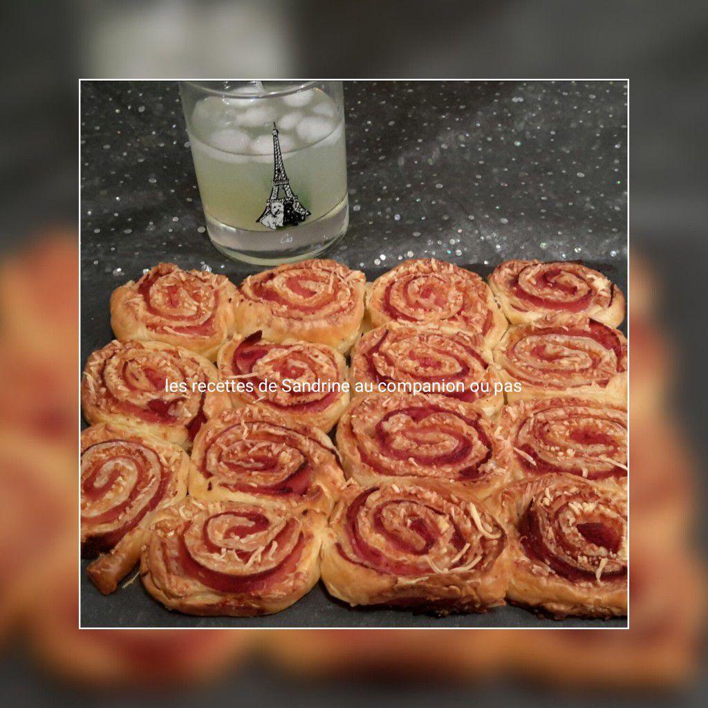 Gâteau roulé au jambon et fromage
