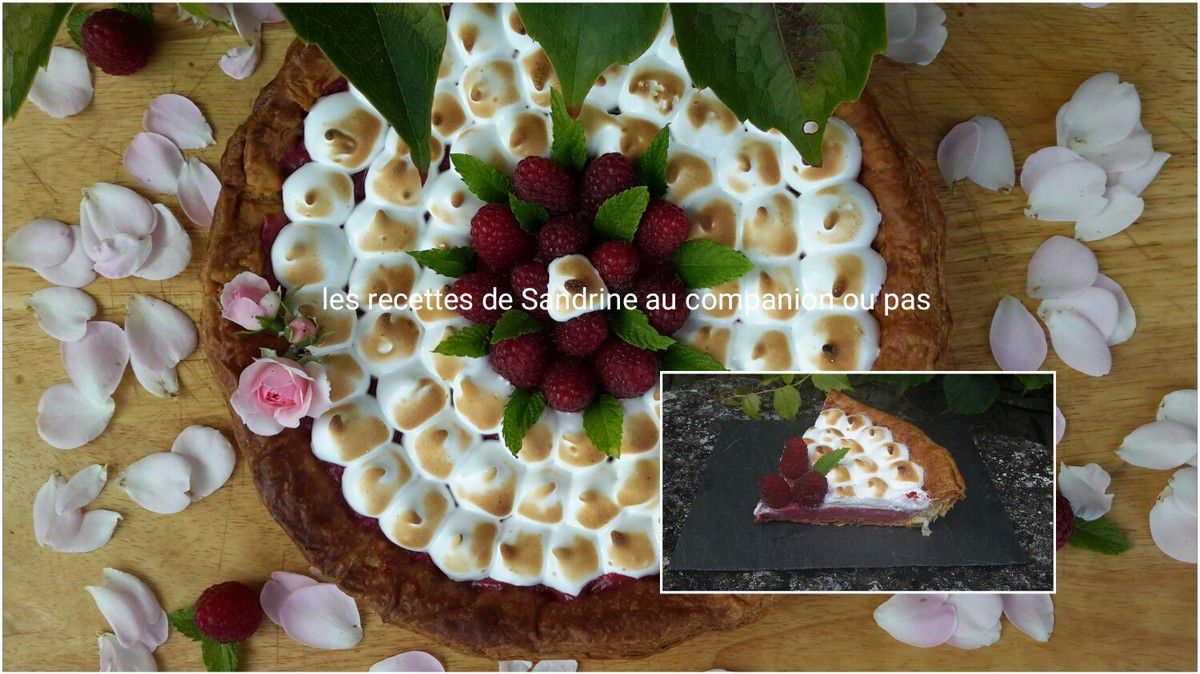 tarte aux framboises meringu e et son curd de framboises au companion thermomix ou autres robots. Black Bedroom Furniture Sets. Home Design Ideas