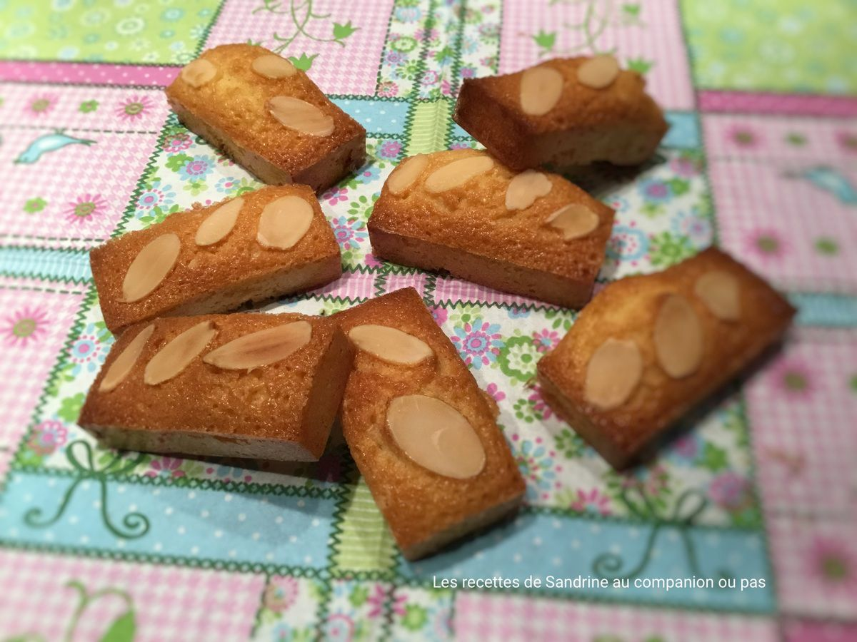 Mini financiers amandes au companion thermomix ou autres robots