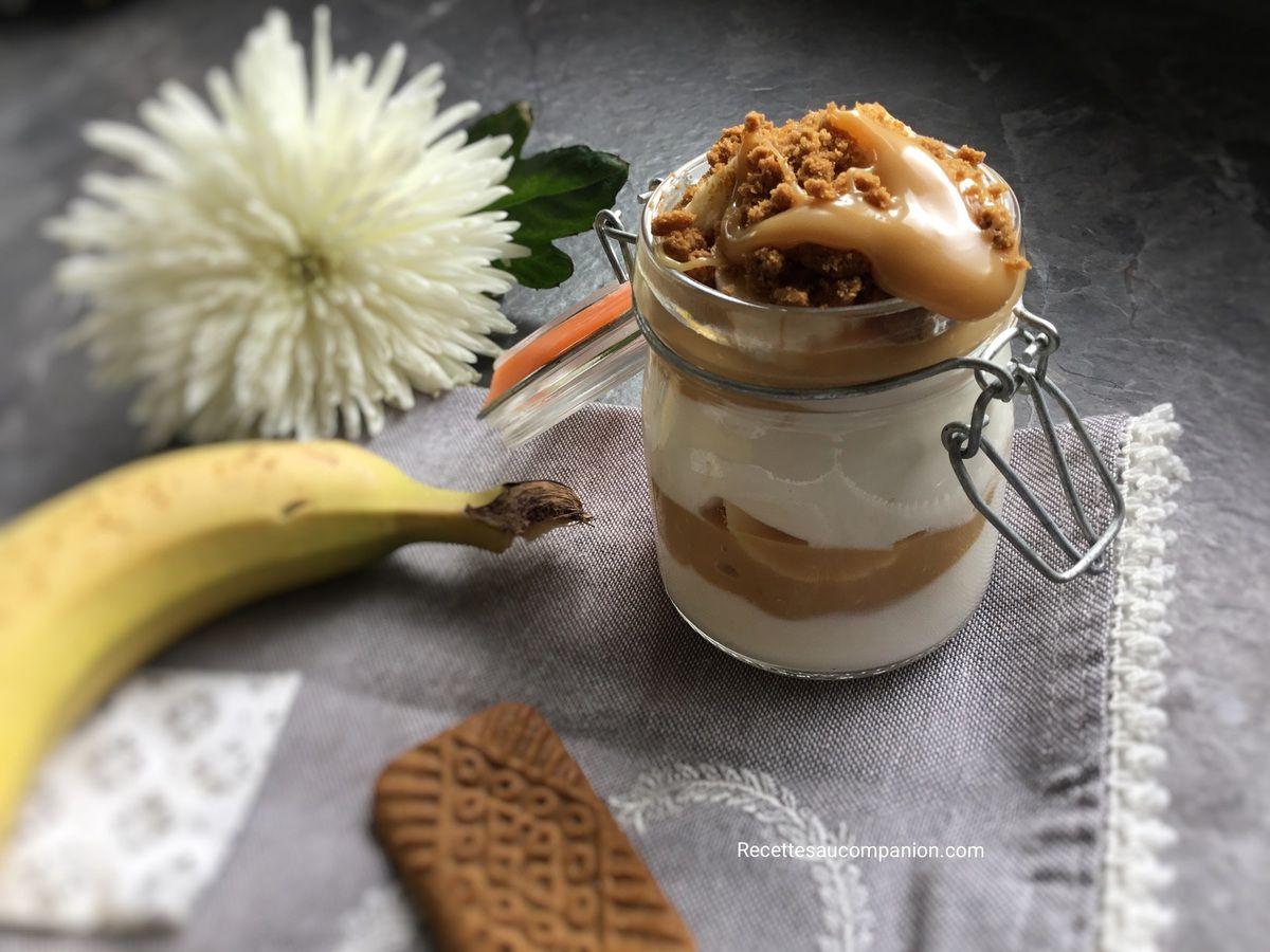 Bocal ou verrine dulce de lèche banane spéculos au cookeo ou sans robot