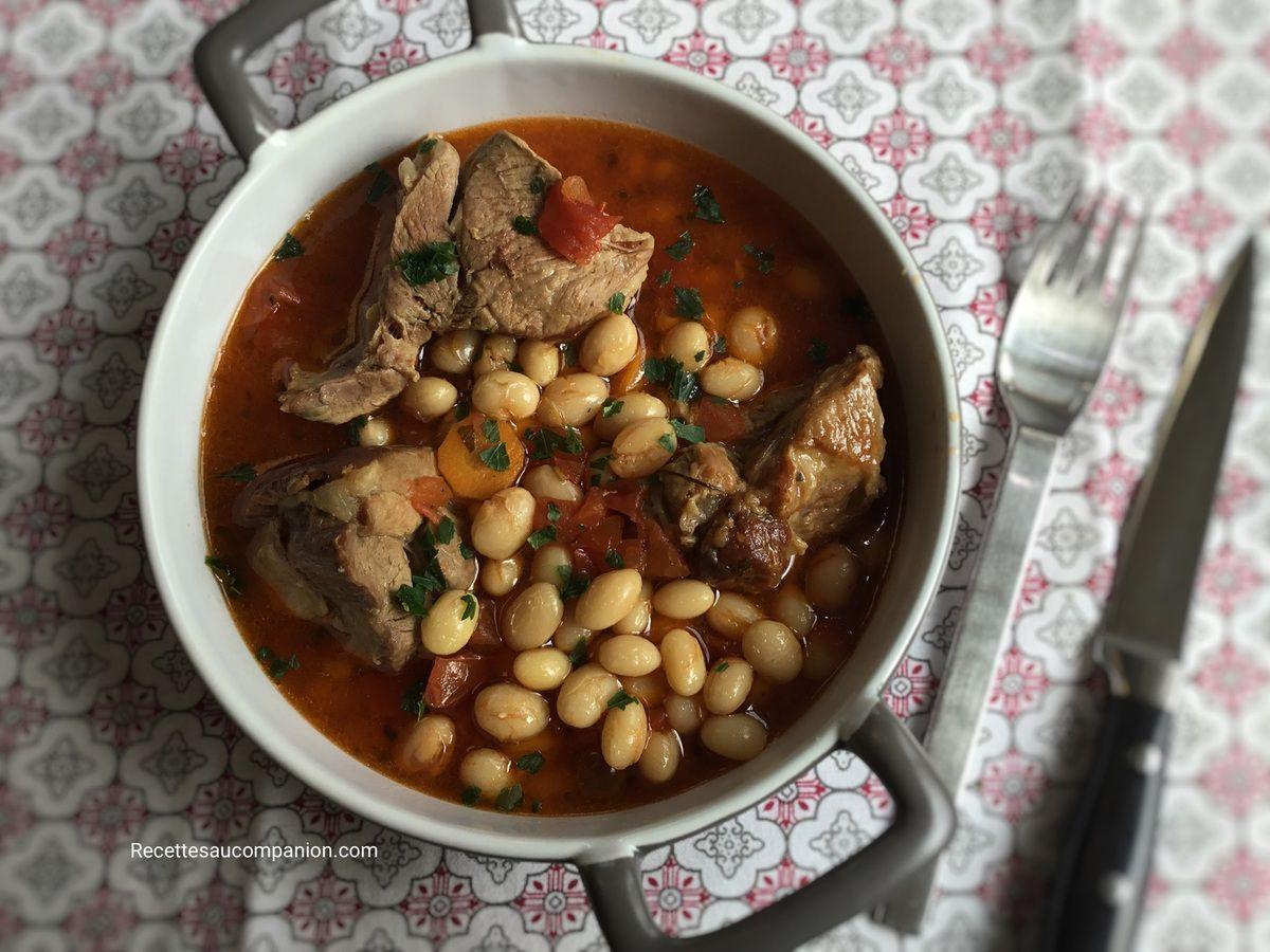 Ragoût de mouton et coco de paimpol au cookeo