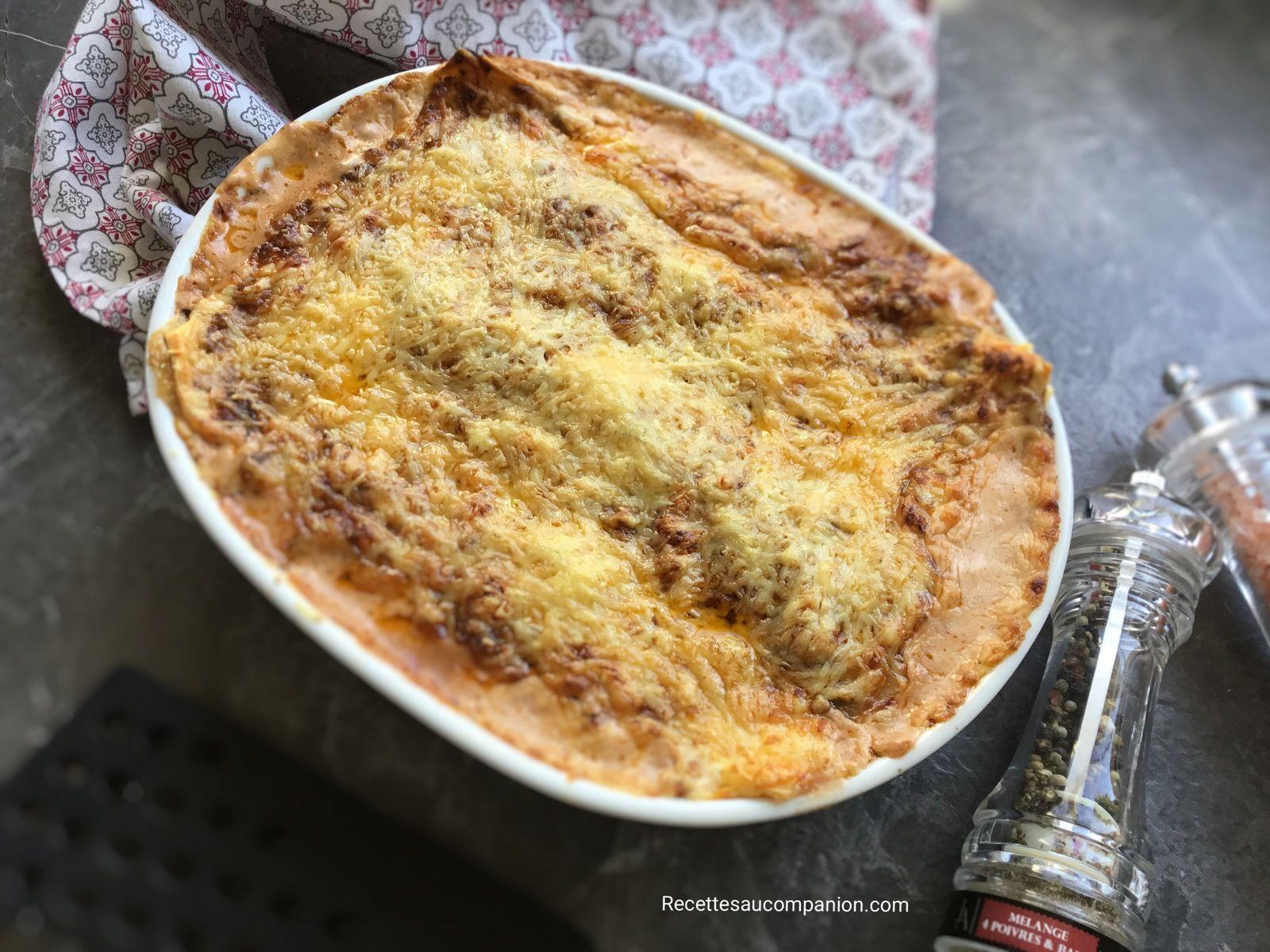 Lasagnes à la bolognaise de Cyril Lignac au cookeo