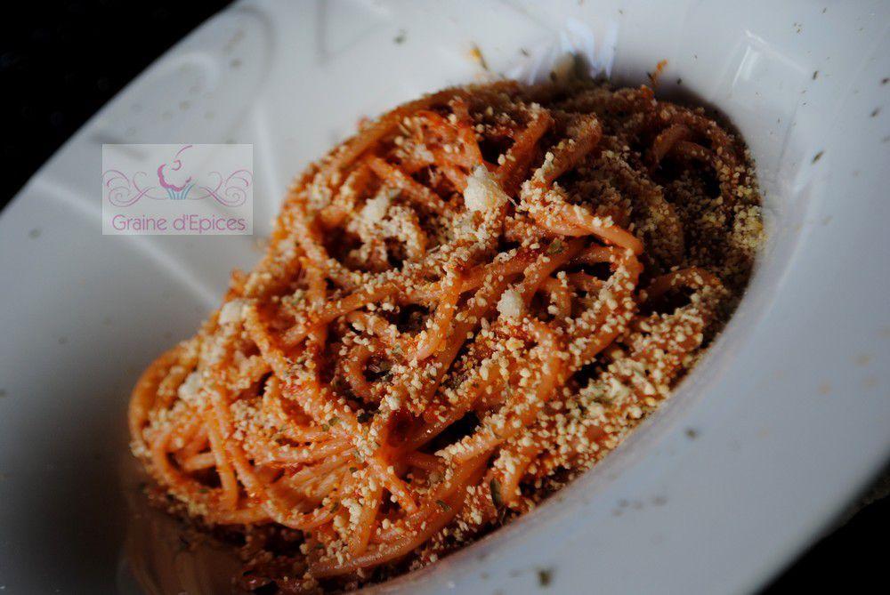 Spaghetti à la Purée de Tomates confites