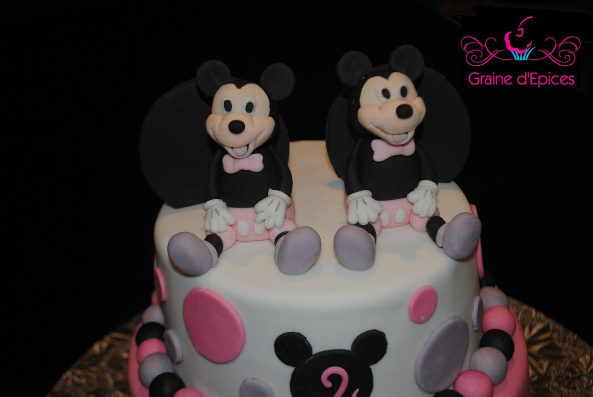 Twin Mickey Mouse cake