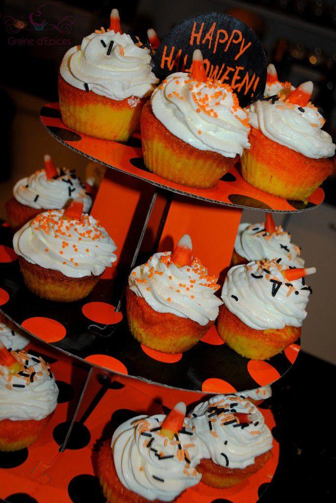 Halloween : Cupcakes Candy Corn