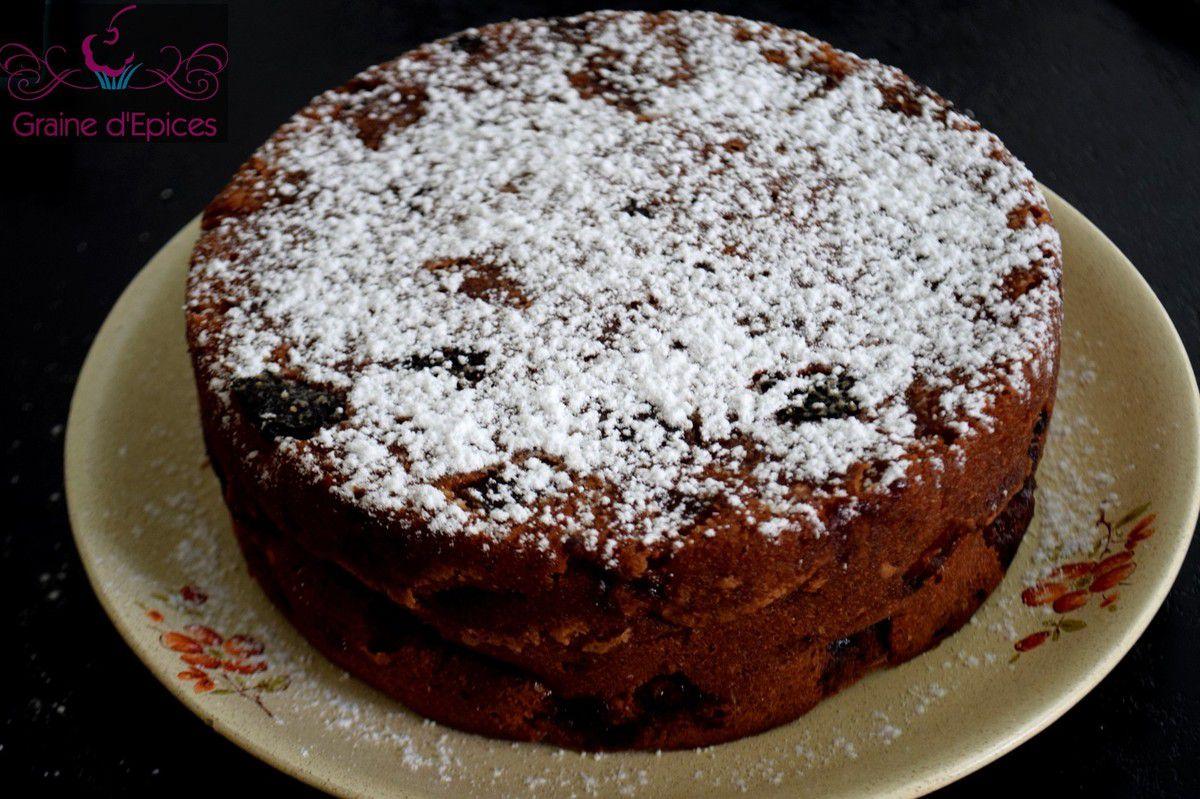 Gâteau Anglais aux Pommes & à la Rhubarbe