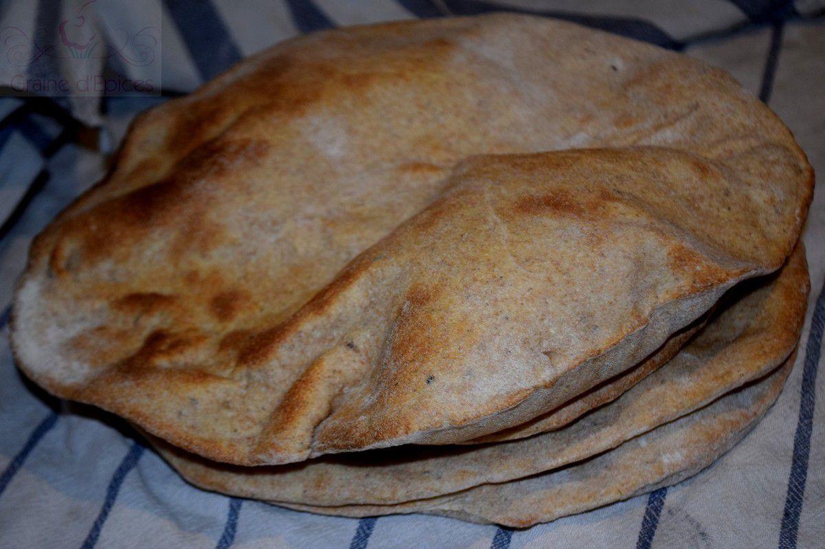 Pain Taboon (Pain plat Palestinien)