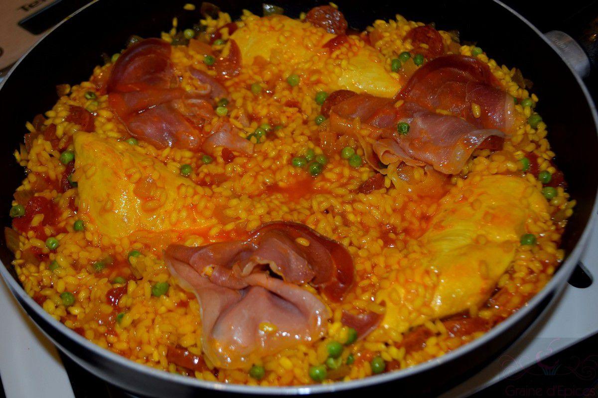 Paella à la Viande