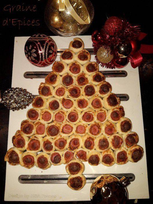 Sapin de Noël apéritif aux Saucisses