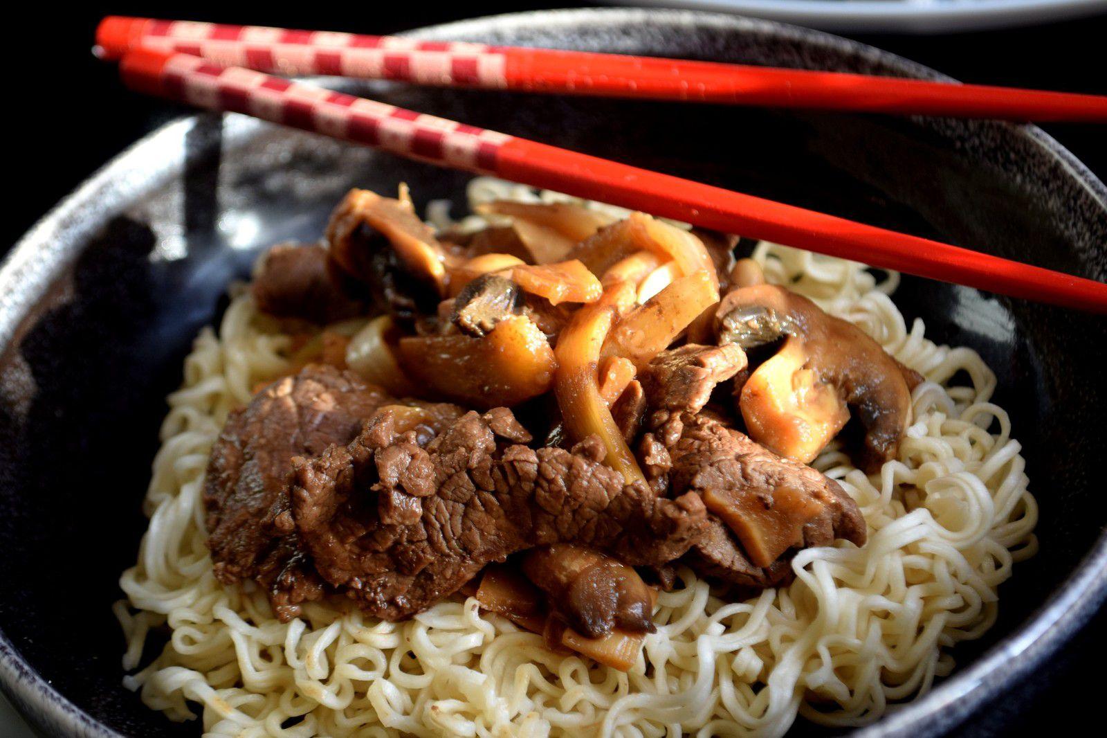 Boeuf aux Pousses de Bambou & aux Cacahuètes
