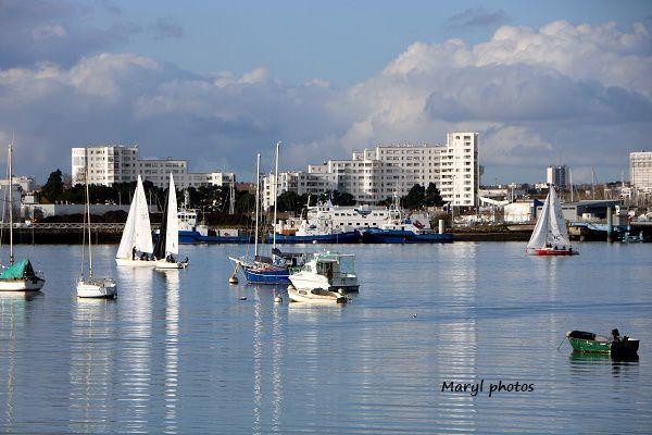 Belle journée d'automne en rade de Lorient...