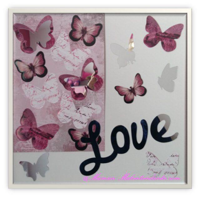 D I Y Tableau Papillons Miroirs Ma Vie Entre Deux Mondes