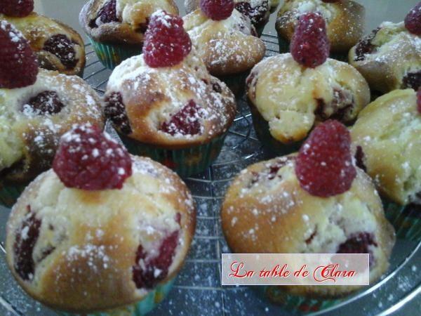 Muffins framboises chocolat blanc