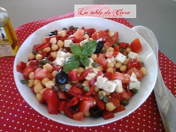 Salade composée  aux pois chiches