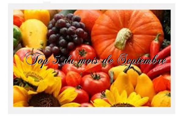 Top 5 du mois de Septembre