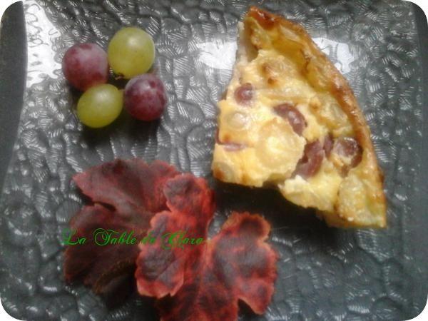 Clafoutis aux deux raisins