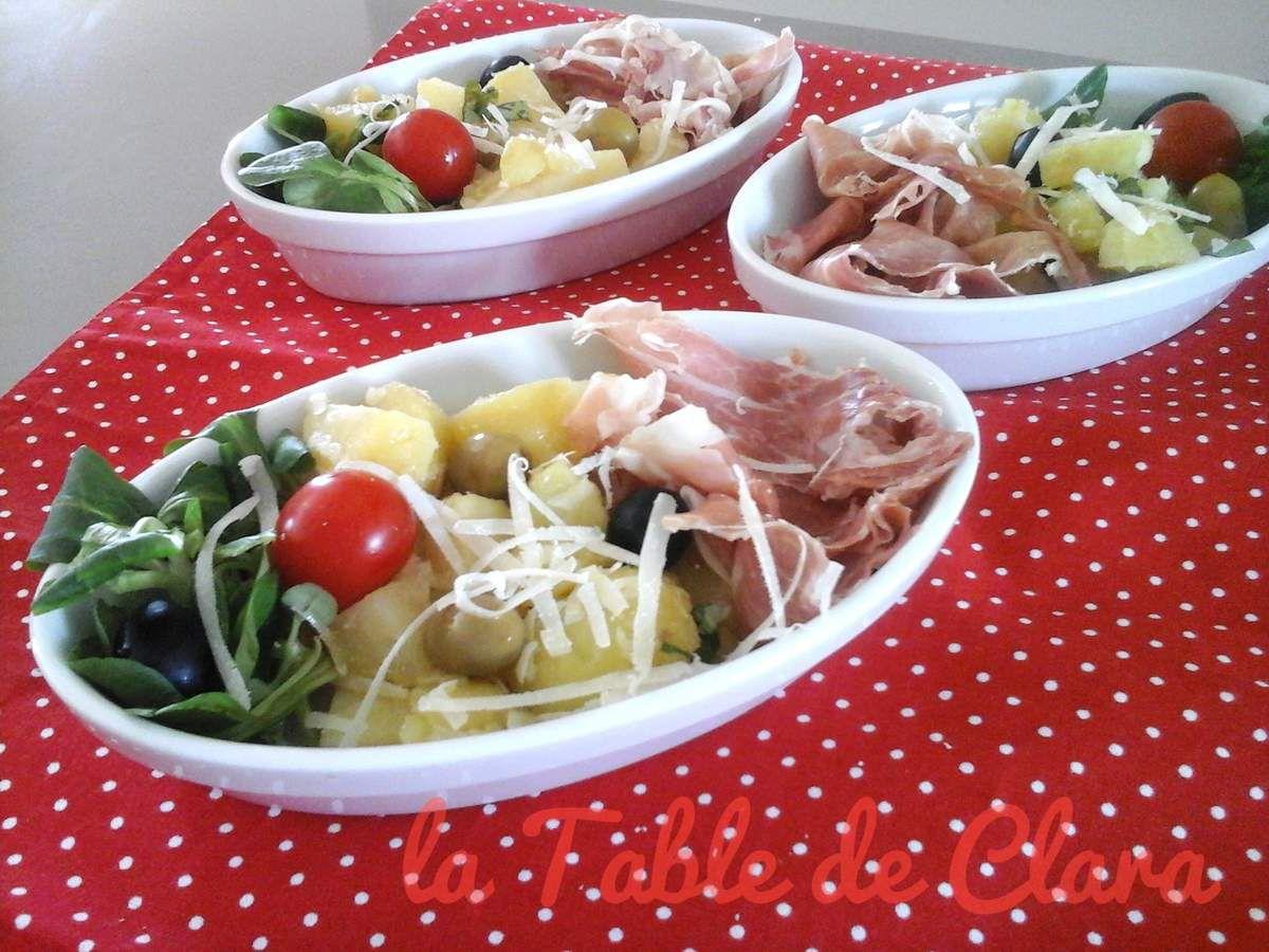 Salade pommes de terre jambon de Parme