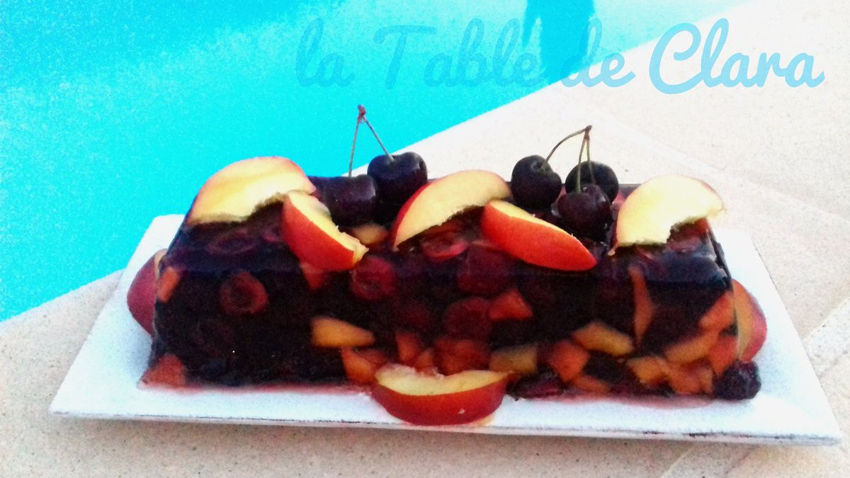 Terrine aux fruits rouges