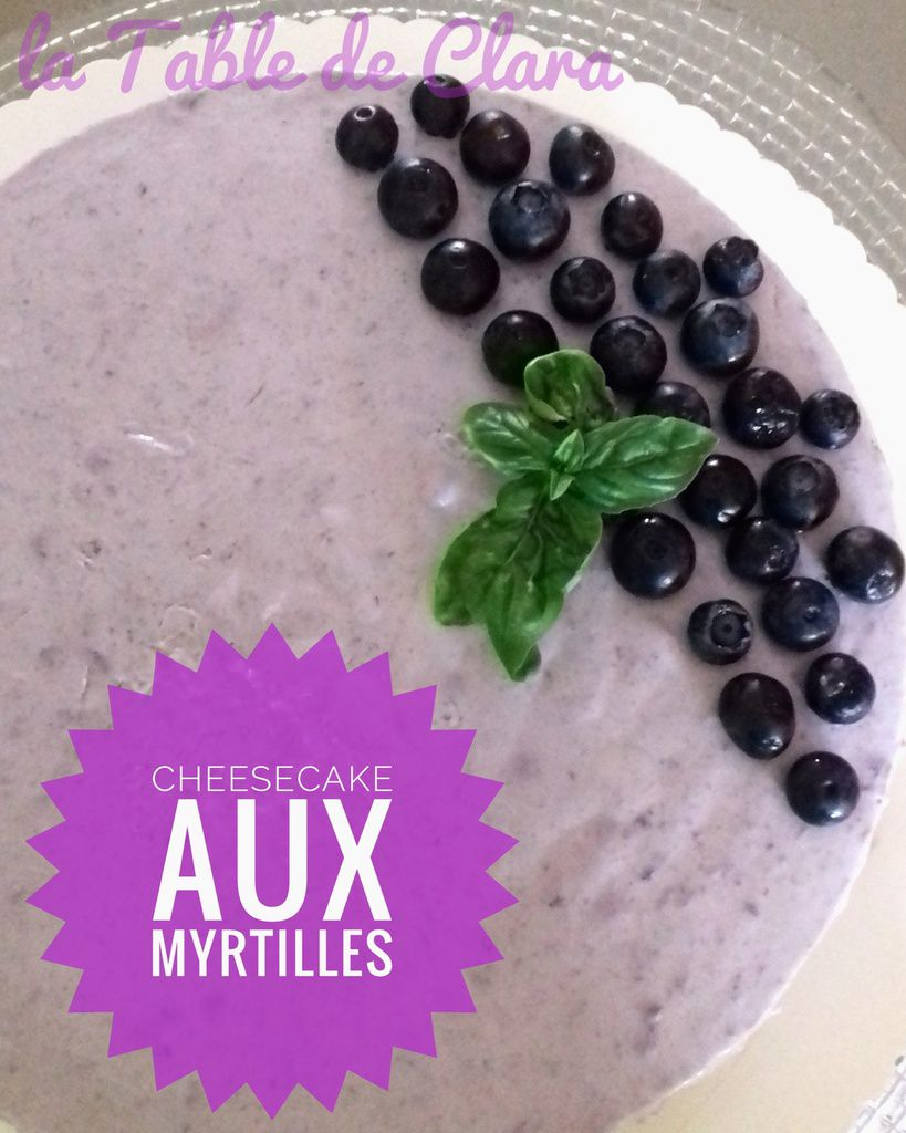 Cheesecake aux myrtilles