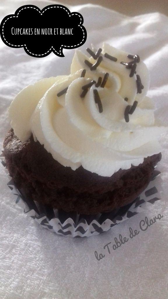 Cupcakes en noir et blanc