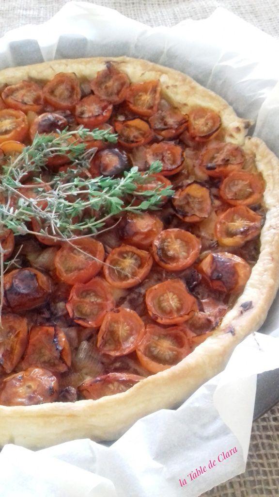 Tarte échalotes et tomates cerises