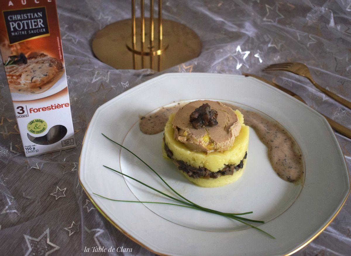 Parmentier Champignons foie gras