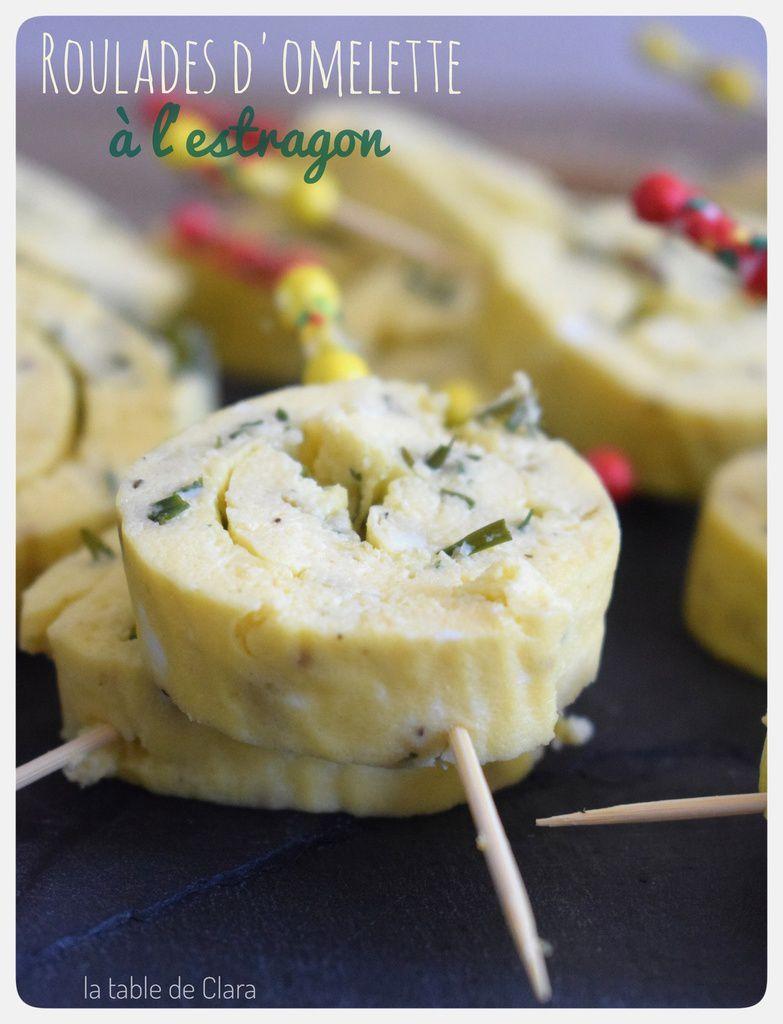 Roulades d'omelette à l'estragon