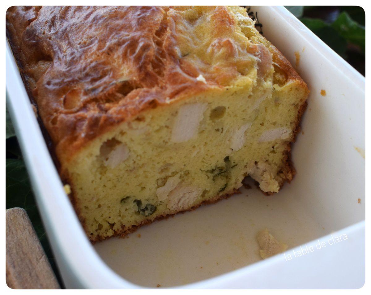 Cake poulet estragon