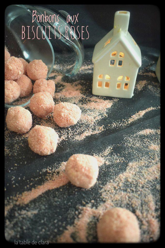 Bonbons aux biscuits roses
