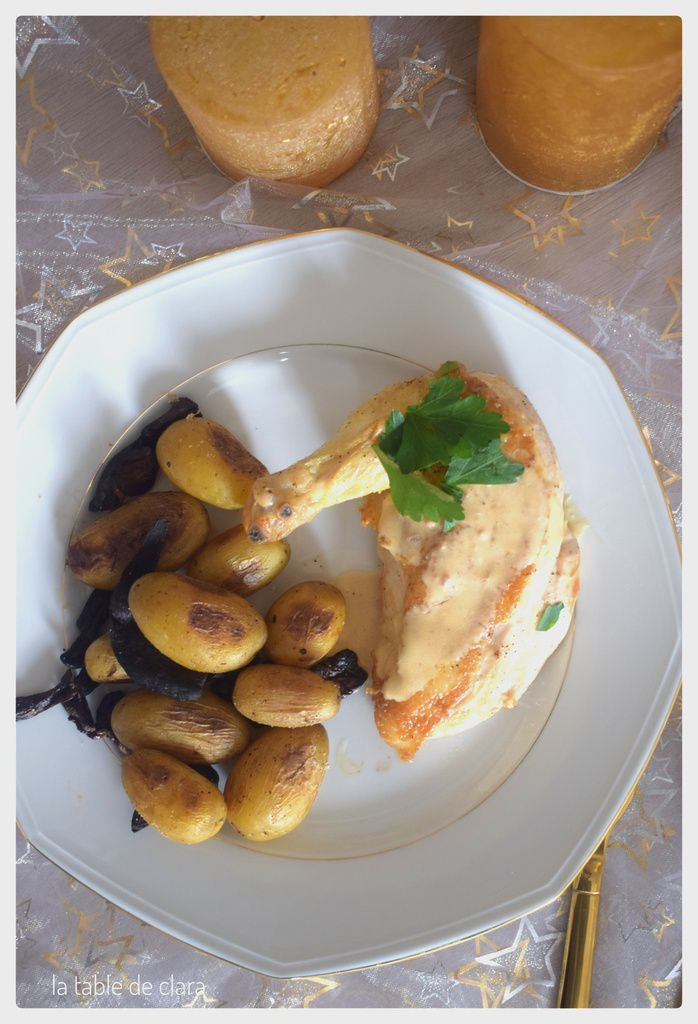 Suprême de volaille sauce au foie gras